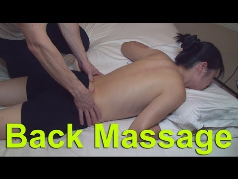 Dry back massage