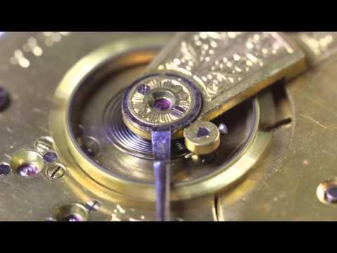 Soft-spoken closeup tour of an 1899 Elgin pocket watch
