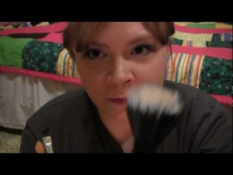 Camera brushing with soft spoken dialog