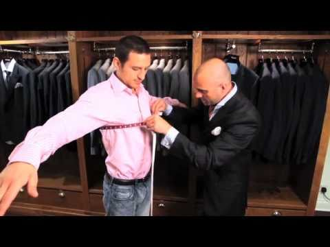 Suit fitting demonstration