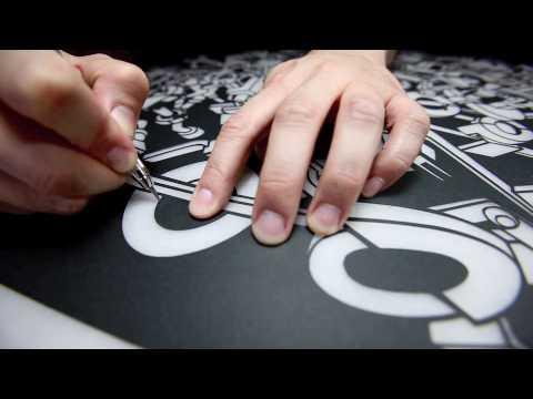 X-Acto-knife artist