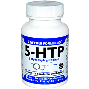5-HTP bottle of capsules
