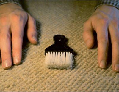 ASMR carpet scratching & brushing  (Binaural)