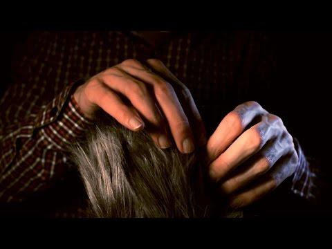 ASMR mic windshield massage (Binaural)