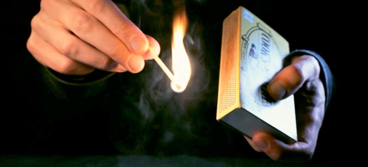 ASMR striking matches & extinguishing in water, satisfying (Binaural)