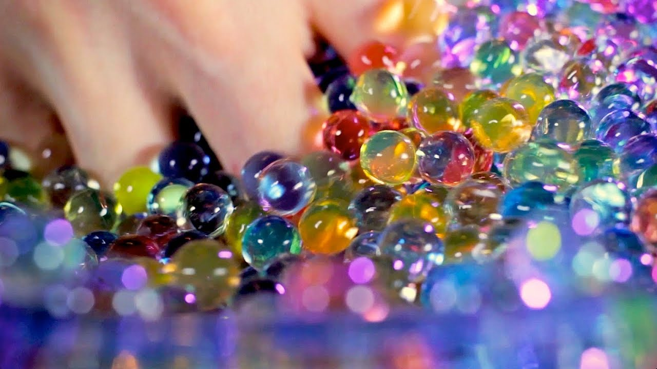 ASMR Orbeez in water! Satisfying! (Binaural)
