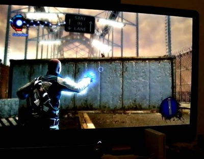 PS3 Infamous Gameplay with Controller Sounds