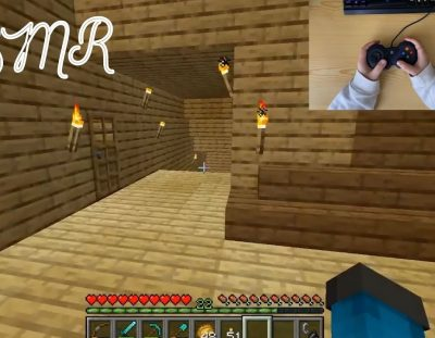 ASMR Gaming Minecraft Hand | No Talking Controller + Handcam